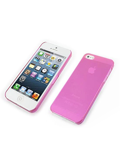 Microsonic iPhone  5 Ultra Thin 0.2Mm Kılıf Pembe Renkli